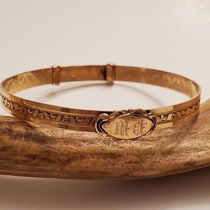 Art deco gold bracelet